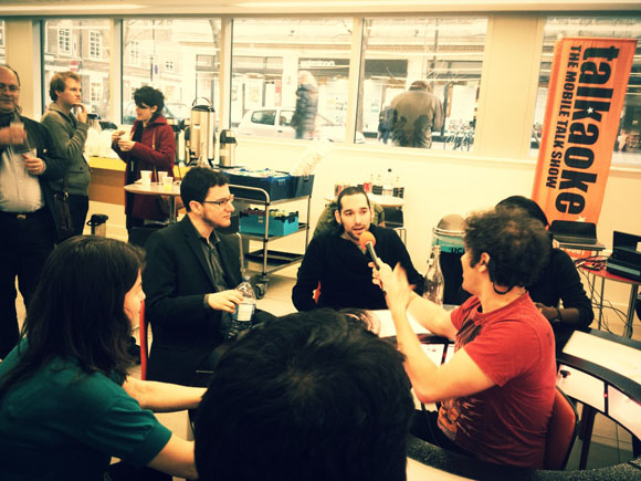Eric Ries and Sal Virani in an open discussion at Leancamp London.